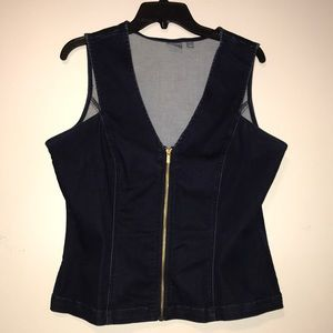 New York and company jean vest